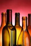 Wine bottles close-up Stock Photos