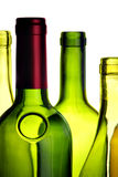Wine bottles close-up isolated Royalty Free Stock Image