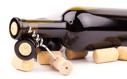 Wine bottles and corks Royalty Free Stock Image