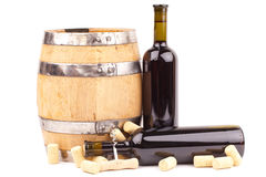 Wine bottles and corks Royalty Free Stock Photography