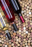 Wine bottles and corks Stock Image