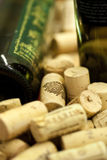 Wine bottles with corks Royalty Free Stock Photos