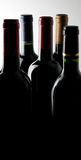 Wine Bottles in the Dark Royalty Free Stock Photography