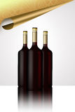 Wine bottles. drinks menu Stock Photos