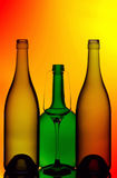 Wine bottles and glass Royalty Free Stock Photography