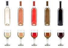 Wine bottles and glasses royalty free stock images