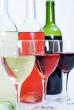 Wine bottles and Glasses Royalty Free Stock Image