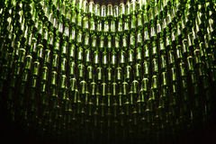 Wine bottles hanging from ceiling Stock Photography