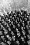 Vintage wine bottles in cellar Stock Images