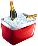 Wine bottles in ice bucket Stock Images