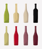 Wine bottles icon. Wine bottles over white background. colorful design.  illustration Royalty Free Stock Photo