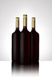 wine Bottles illustrated Royalty Free Stock Images