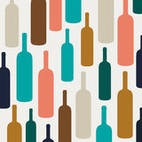 Wine Bottles. Illustration of an Abstract Background with Wine Bottles Royalty Free Stock Image