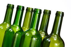 Wine bottles isolated over white Royalty Free Stock Photos