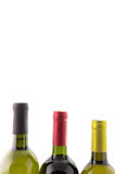 Wine bottles isolated on white Royalty Free Stock Images