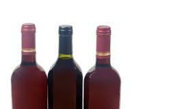 Wine bottles isolated on white Royalty Free Stock Photo