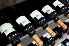 Wine bottles in a liquor store Stock Photo