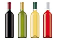 Wine bottles mockups set Royalty Free Stock Image