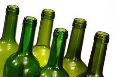 Wine bottles over white background Stock Images