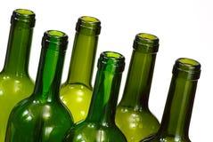 Wine bottles over white background Stock Images