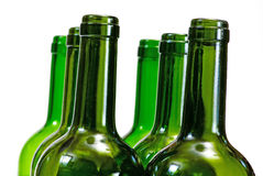 Wine bottles over white background Royalty Free Stock Photos