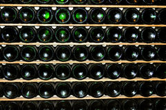 Wine Bottles Perspective Royalty Free Stock Photos