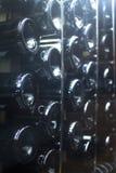 Wine bottles rack fridge cooler Stock Images