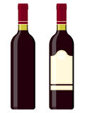 Wine bottles - red Royalty Free Stock Image