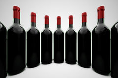Wine bottles. Royalty Free Stock Photo