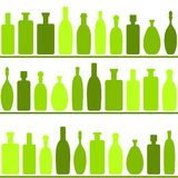 Wine bottles seamless background. Wine bottles on a shelf Stock Photography