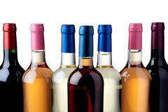 Wine bottles. Some wine bottles in front of white background Stock Images