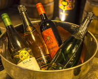 Wine Bottles. At Sula Vineyards stock photography