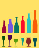 Wine Bottles - Vector. Wine Bottles is a  illustration Royalty Free Stock Photo