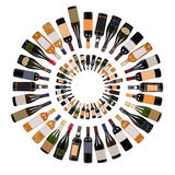 Wine bottles vortex Royalty Free Stock Image