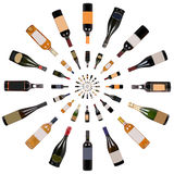 Wine bottles vortex Stock Photo