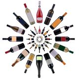 Wine bottles vortex Royalty Free Stock Photos