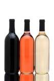 Wine bottles on white Royalty Free Stock Image