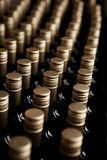 Wine bottles winery Royalty Free Stock Image