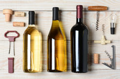 Wine Bottles With Accessories Stock Photo