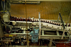 Wine bottling line Stock Photos