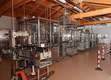 Wine bottling line Stock Image