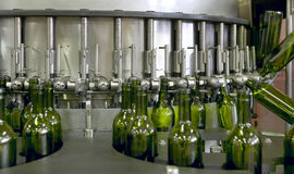 Wine bottling plant Stock Photo
