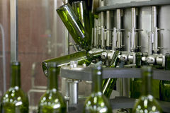 Wine bottling plant Royalty Free Stock Photography