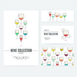 Wine Branding. Set of business identity elements with wine theme. Vineyard or wine bar corporate identity. Business documentation Stock Photography