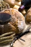 Wine and Bread 12/10 Royalty Free Stock Photo
