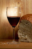 Wine and bread Stock Photos