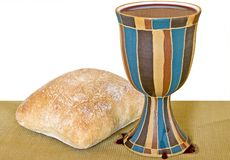 Wine and bread Royalty Free Stock Photography
