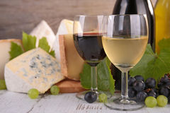 Wine, bread and cheese Royalty Free Stock Photo
