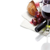 Wine and bread Royalty Free Stock Photos
