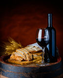 Wine and Bread Stock Photo